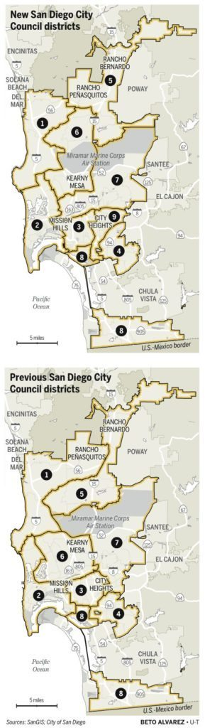 New San Diego City Council Districts