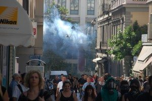 Photo by Jim Bliesner of Athens' Sept.25 & 26 Democracy vs Capitalism Confrontation - 111
