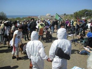 Anti-nuke rally at San Onofre on March 11, 2012. (Photo by Frank Gormlie.)
