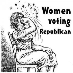 women voting rupblican