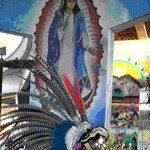 Virgen de Guadalupe & Toltecas en Aztlan at Chicano Park 2012 by Remy Bermudez