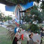 Virgen de Guadalupe & Toltecas en Aztlan at Chicano Park 2012 by Remy Bermudez 2