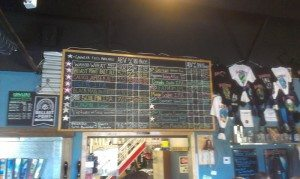 Now that is a tap list