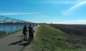 The reopened dam-top portion of the trail. Hooray!