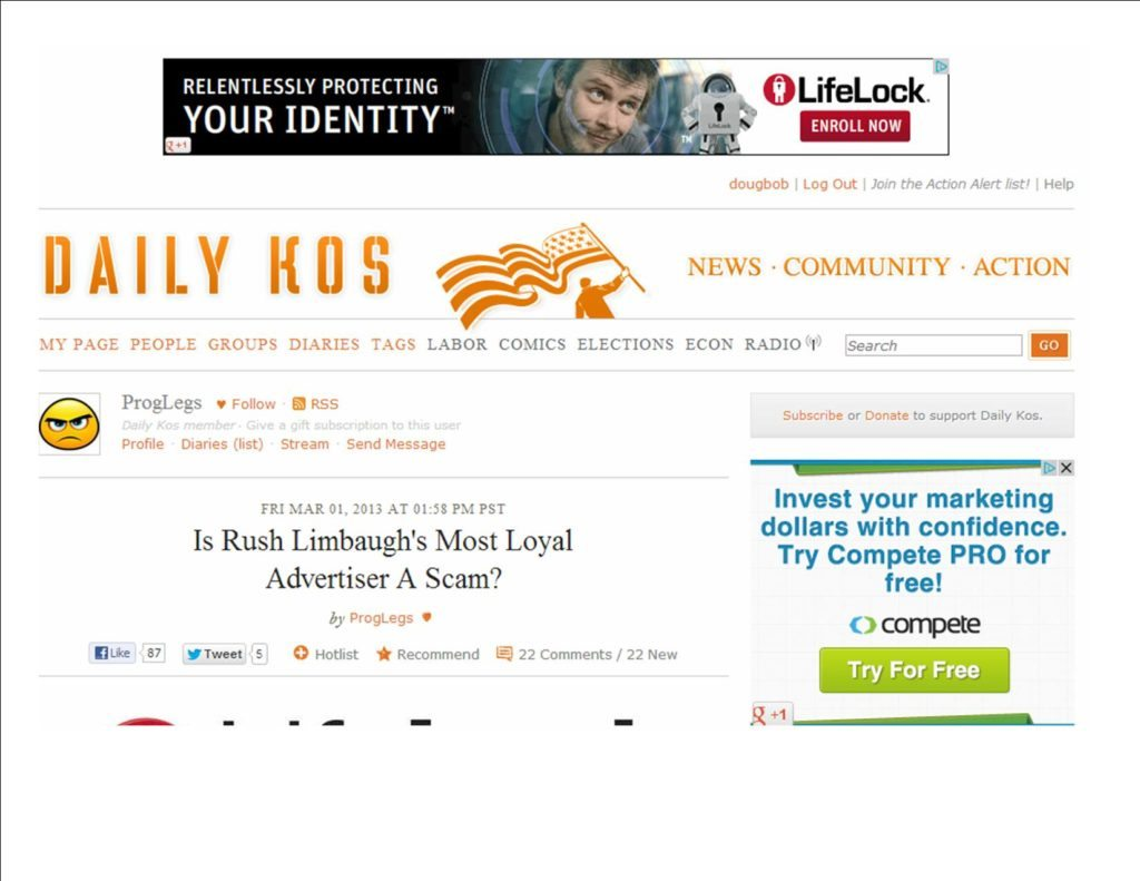 Daily Kos Sweet Irony