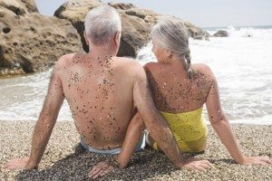 Older couple-beach