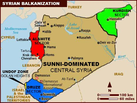 Syria balkan map