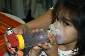 One of many Barrio Logan children with asthma. Photo by EHC.