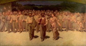 Il Quarto Stato by Giuseppe Pellizza da Volpedo, 1901