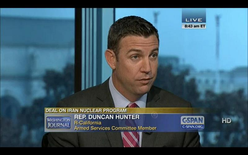 Let's Not Forget Our Core Values, Congressman Hunter