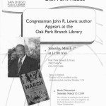 Civil Rights Icon John Lewis at San Diego's Oak Park Public Library: In This Place, the Beloved Community