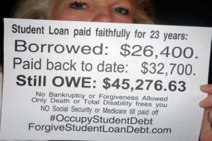 Post image for Crippling Student Loan Debt, Not Just For the Young