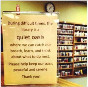 Post image for The Ferguson Missouri Public Library: A Clean Well-Lighted Place within the Chaos