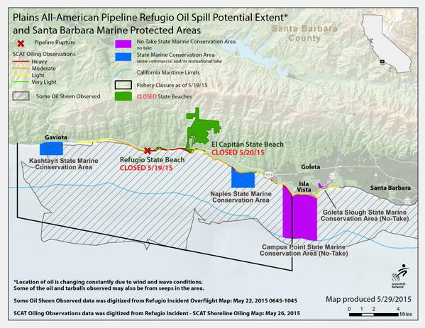 FAQ Latest News About The Santa Barbara Spill Heal The Bay - Map of us pipeline spills sites