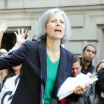 Jill Stein at an Occupy Wall Street demonstration in 2012.