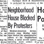 San Diego Union article, October 7, 1970: Neighborhood House Blocked By Protesters