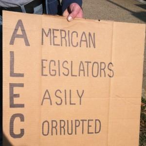 alec cardboard sign