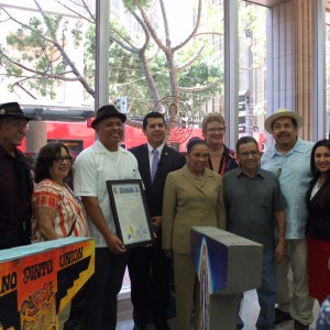 Ceremony Marks 'A National Treasure in the Barrio' Standing Tall at City Hall