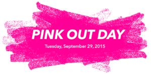 Pink out logo