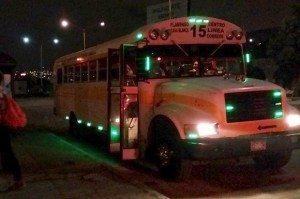 Turista Libre Bus At Night