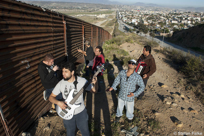 Cañamo, the Tijuana based Reggae and Ska band, at the border fence.