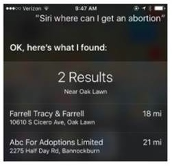 Apple Search No Longer Directs Women Seeking Abortions to Adoption Centers