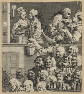 Hogarh engraving: The Laughing Audience