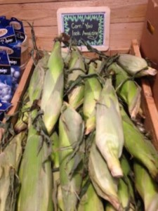 Liberty Market corn on display