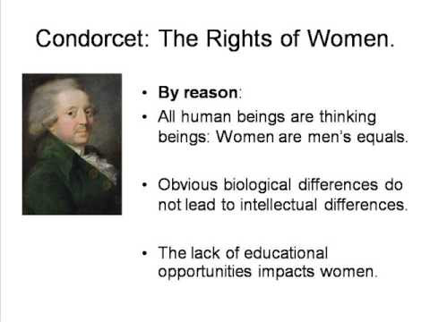 Portrait of Condorcet accompanied by some statements on the rights of women