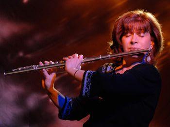 Lori Bell playing flute