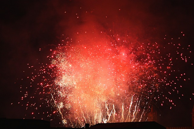 fire and fireworks photo