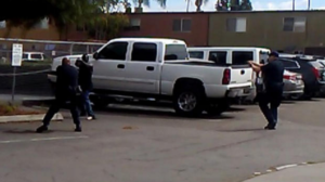Photo still of video footage released in the moments before the fatal police shooting of Alfred Olango.