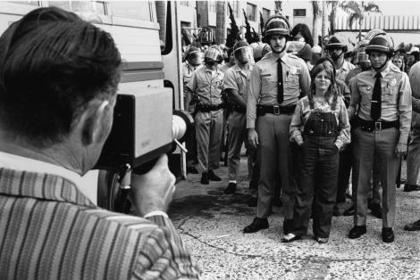 "Arrest of Lori ""Sierra"" Knight, May 4, 1972 by Fred Lonidier."