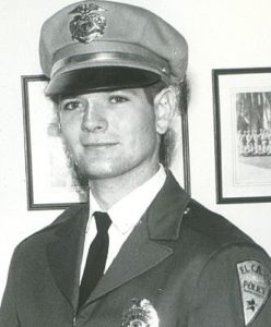 William John Cox, graduating from San Diego Police Academy (1963). Photo via Wikipedia