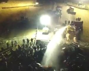 Police Use Water Cannons in Freezing Weather on Protesters at Standing Rock