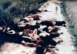 Dead from the My Lai massacre on road