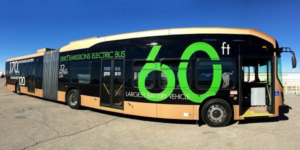 BYD 60 ft. articulating electric bus