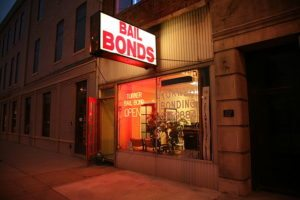 Storefront of Bail Bond agency in Indianapolis