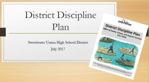 Slide for Sweetwater Union High School District Discipline Plan